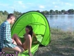 Eveline getting banged on camping site