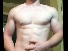 Ginger Muscle Jock Jerks Off 2