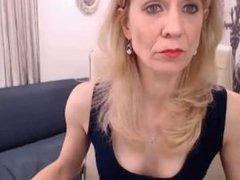 Beautiful mature blonde on cam