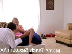 Giving his step sister her first anal fuck