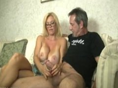 Big tittied MILF Charlee Chase gets glasses covered