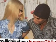 Skinny Russian Blonde Choking on a Huge Black Cock - nerdy.sinhill.com