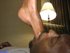 Diamond ebony foot worship