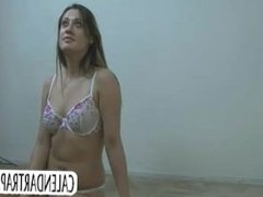 Pretty amateur girl gives blowjob
