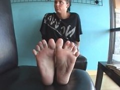 Young lady feet