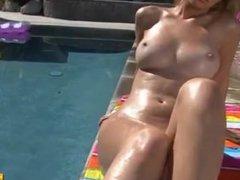 Hayden Winters is Hot Pink G-String Bikini