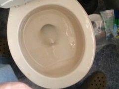 uncut cock pissing