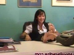 job interview tickling