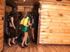 Halloween Massacre 5 girls trampling!