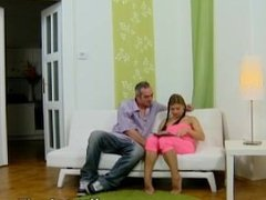 Young Anal Tryouts - Anna sits quietly in her sexy pink outfit