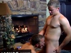 Hot gay sex Hot, naked, guy on guys sex, set in a romantic, fireside