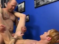 Naked men Hippie stud Preston Andrews can't help but admire the piece of