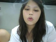 Smoking Asian Webcam I