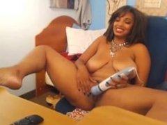 Busty Black Girl - Webcam Show