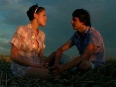Ashley Stillar makes young love in a field