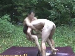 College guys nude wrestling