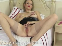 Betsy Blue Strips Sensually and Masturbates For You