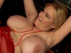 Lady in red enjoys a black dick - Part 1