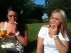 VICKY vs NIKKI in a smoking challange face off!