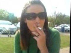 Smoking Competition Power smoking woman