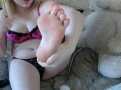 Private Show Young Blonde Teen Self Feet Licking - Webcam Chaturbate CB