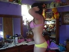 Really cute emo girl getting naked