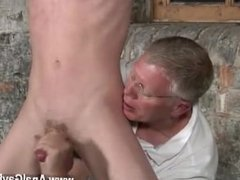 Gay twinks Sean McKenzie is roped up and at the grace of tormentor