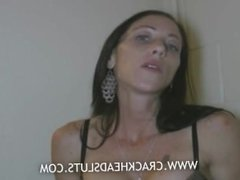 Big tits hooker slurps on a cock
