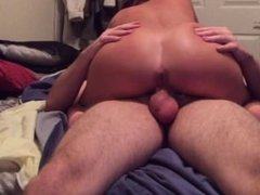 Horny Wife Loves Getting Her Ass Stretched When She Fucks