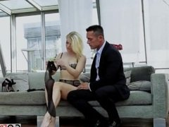 Blonde pet Ash Hollywood fucked by two guys