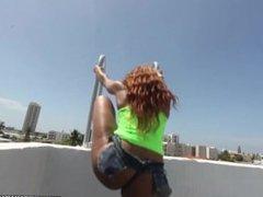 Ebony Porn Star Jayla Foxx Fucks a Fan