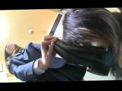 3 schoolgirls vs 1 Schoolgirl foot worship 3/2