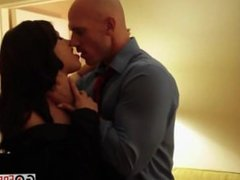 Hot brunette Adriana Chechik fucks and swallows in hotel room