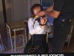 Japanese schoolgirl fucked hard on cam