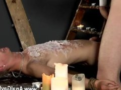 Hot gay Splashed With Wax And Cum