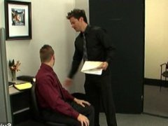 Hottie gay gets ass spanked and fucked