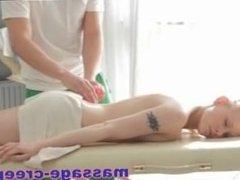 Blonde teen fucked by her masseur