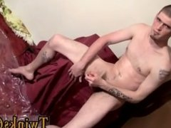 Hot gay scene After stripping down he embarks working on his big cock,