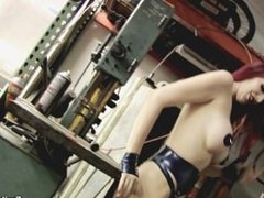 Emily Marilyn Bike Shop Babe behind the scenes