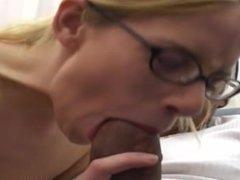 Cute Nerdy Girl w/Nice Tits Takes the Blackzilla!!