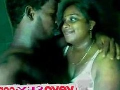 Indian Tamil Aunty sucking and fucking with neighbor man