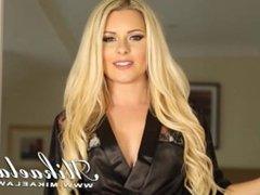 Blond Babe Mikaela Witt Hallway Strip Tease Sample