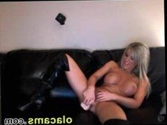 Cute blonde teen dildoing pussy orgasm webcam
