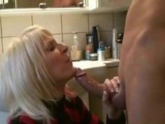 Blowjob and anal with sweet blonde