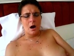Granny Fucks Herself with Her Big Vibrator