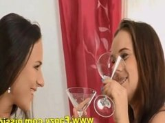 Teen lesbians drinking each others piss