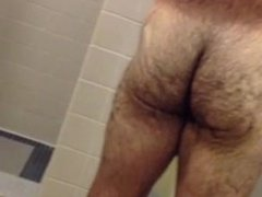 spy hot guy on gym showers