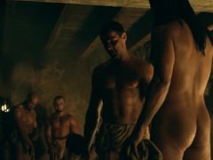 Manu Bennett & Antonio Te Maioha Frontal Nude in Spartacus Gods of the Aren