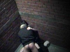 alleyway hidden cam sex