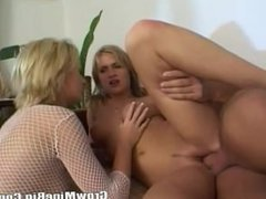Two Gorgeous Latin Fuck By One Bigcock